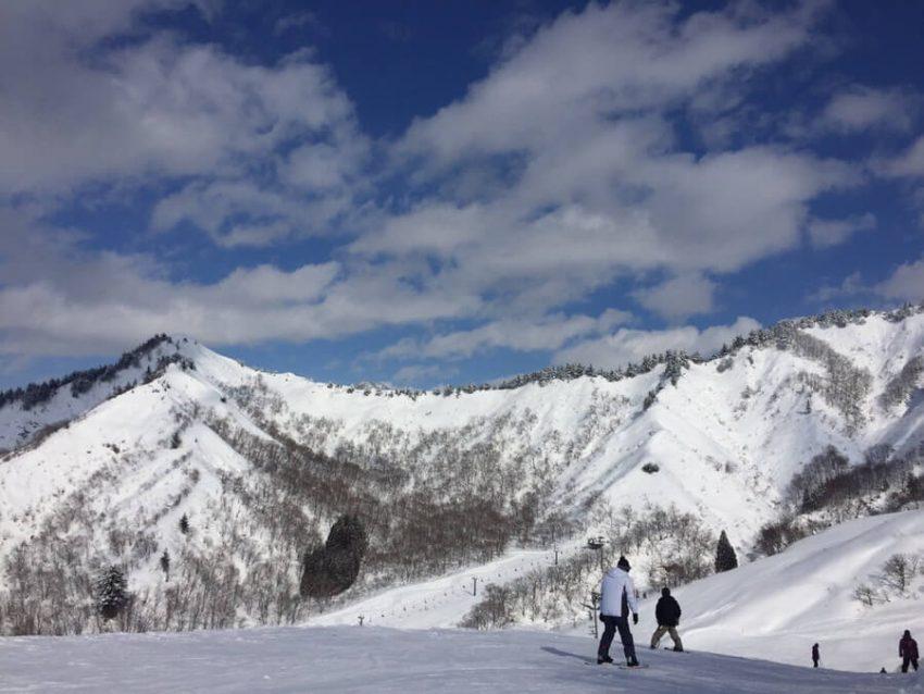 雪山とスノースポーツ
