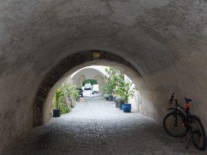 トンネル風の道